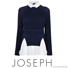 Crown Princess Mary Style JOSEPH Merino Knit Jumper