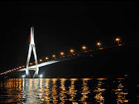 Can Tho Bridge at night (Vietnam)