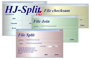 download aplikasi HJSplit untuk menggaungkan/memecah file