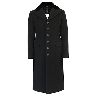 ralph lauren black label wool cashmere angora coat faux fur collar