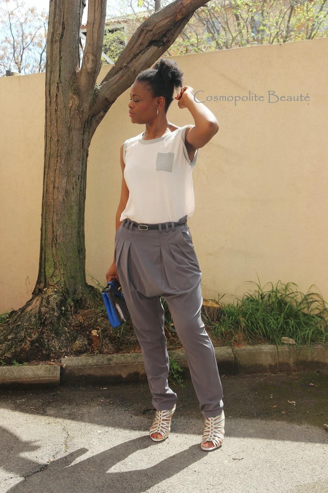 byn french challenge, lookbook, cosmopolite beauté, cosmopolitan beauty, tenue, pastel, look, sarouel, pantalon,  sandales à talons