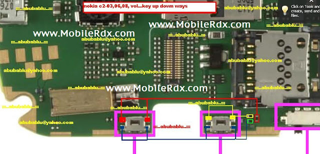 Nokia C2-03,C2-06,C2-08 Up Down Button Solution