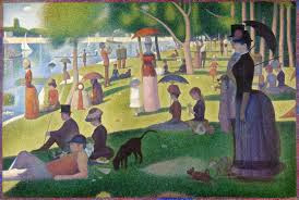 "Famous Painting ""Sunday Afternoon on the Island of La Grande Jatte"" by Georges Pierre Seurat, 1886"