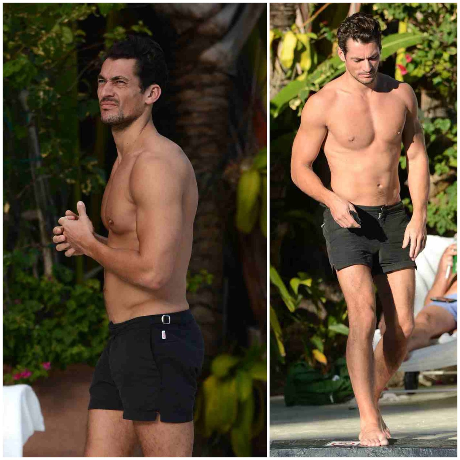 00O00 London Menswear Blog Celebrity Style David Gandy South Beach Orlebar Brown shorts