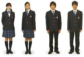 School uniforms in most schools of China are only different in size. You can't find big differences between boys' uniforms and girls' uniforms only from the appearance. Both of them are loose sport suits.