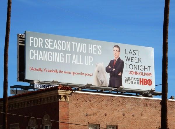 Last Week Tonight John Oliver season 2 billboard