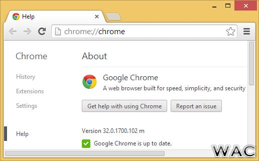 Google Chrome 32.0.1700.102