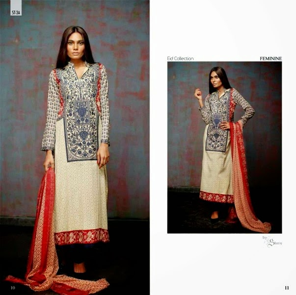 Feminine Eid Dresses 2014 Presented by Shariq