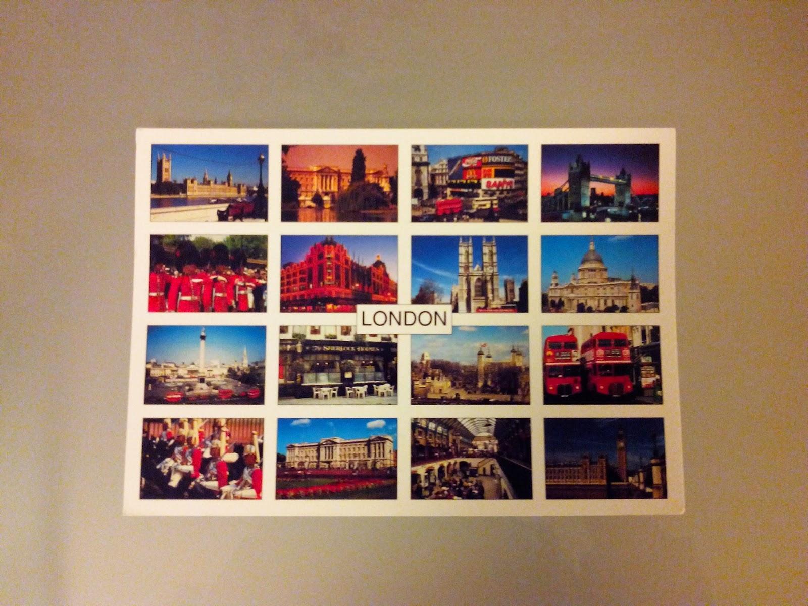 carte postale, geekeries de farfadette, londres, bullelodie