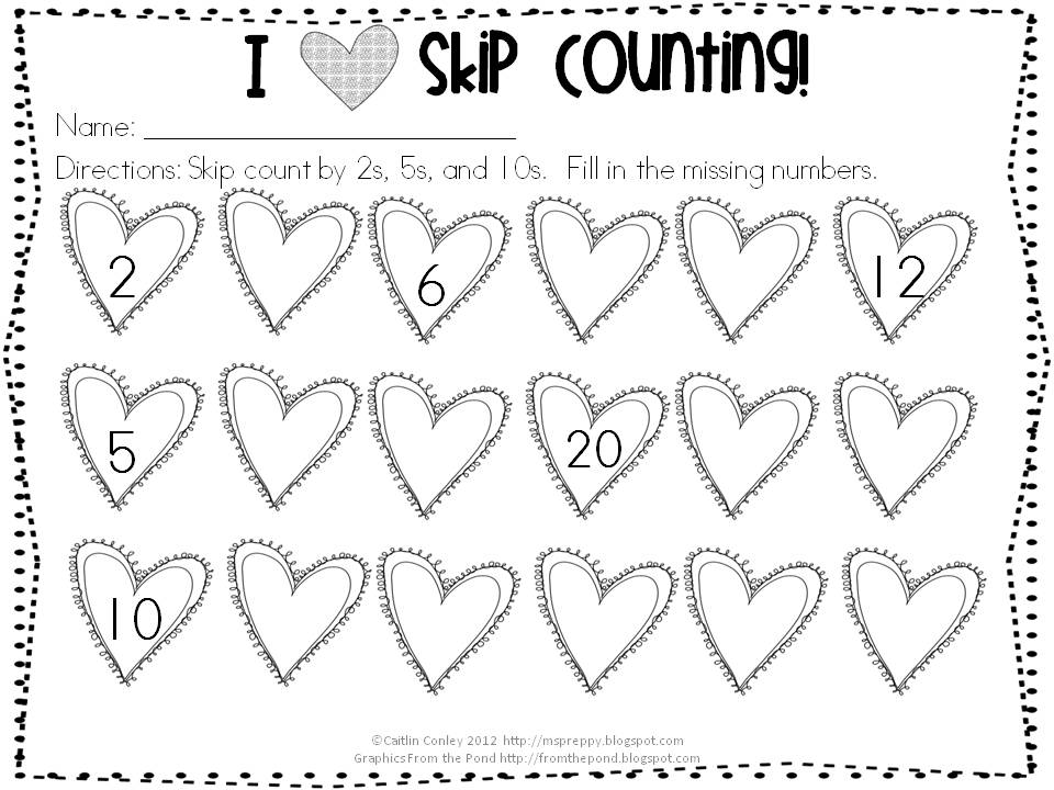 on skip counting here s a fun valentines themed worksheet to practice ...