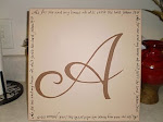 """A"" with Scripture from Isaiah"