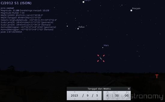 Lihat Komet ISON Bersebelahan dengan Mars di Langit