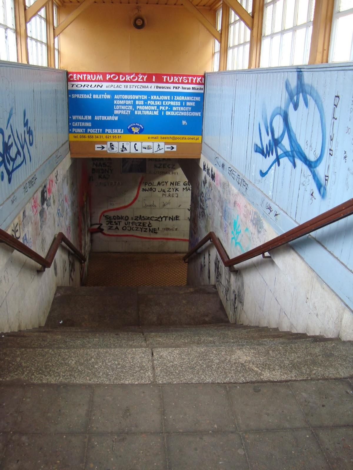 pkp toruń miasto, schody