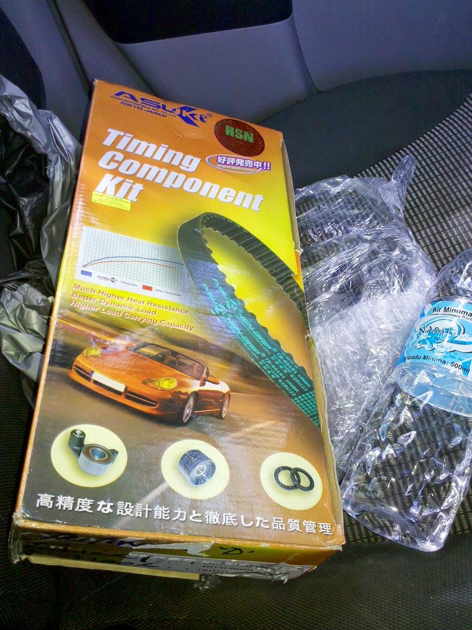 Masanya Aku Tukar Timing Belt Mitsubishi Triton Sendiri For Inilah Kotak Component Kit Yang Telah Saya Terima Pada 29mei2014 Jam 1000 Pagi Dan Collect Di Pejabat Pos Daerah Ranau
