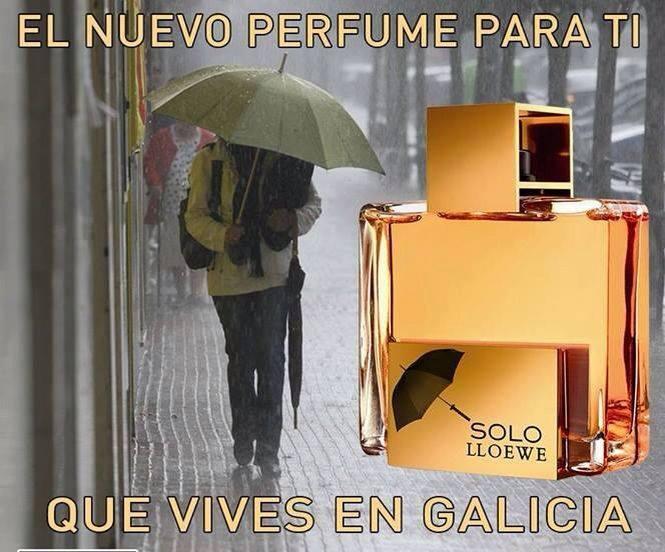llueve en Galicia
