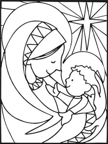 plantillas dibujos belenes navidad