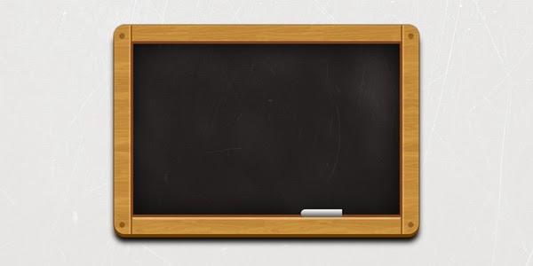 Wooden Black Chalkboard Icon PSD