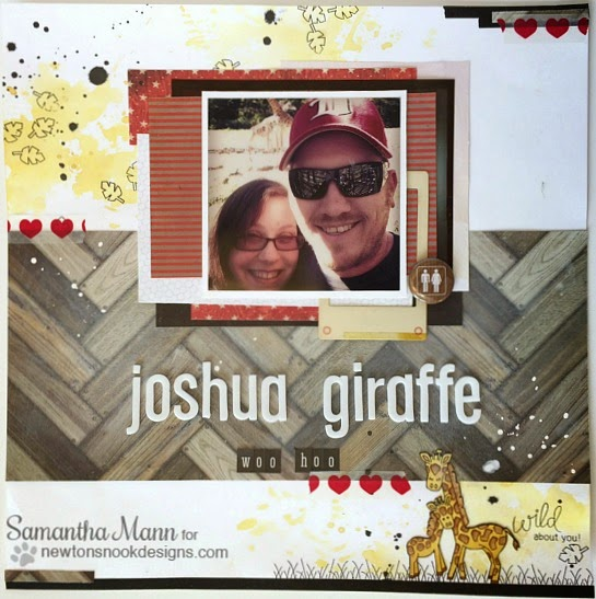 Wild About You Scrapbook Page by Samantha Mann | Wild Child Stamp set by Newton's Nook Designs