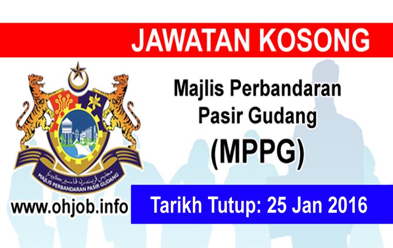 Jawatan Kerja Kosong Majlis Perbandaran Pasir Gudang (MPPG) logo www.ohjo.info januari 2016