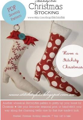 Christmas Stocking Craft PDF Sewing Pattern