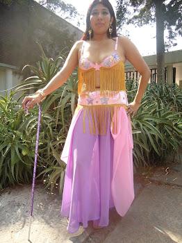 vestuario completo danza arabe