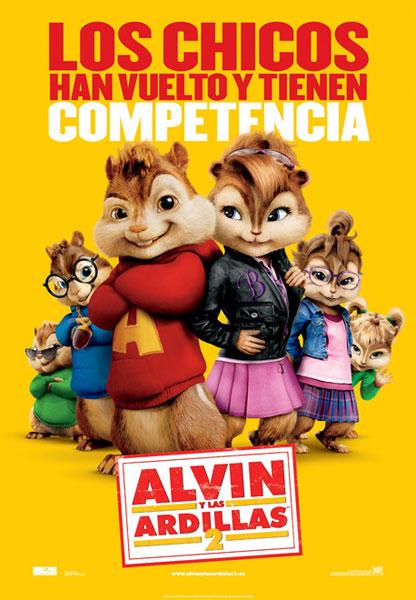 Alvin y las ardillas 2 ( HD 720P y español Latino 2009) poster box cover