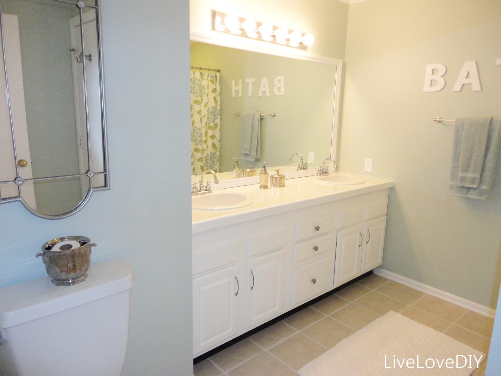 Updating a small master bathroom