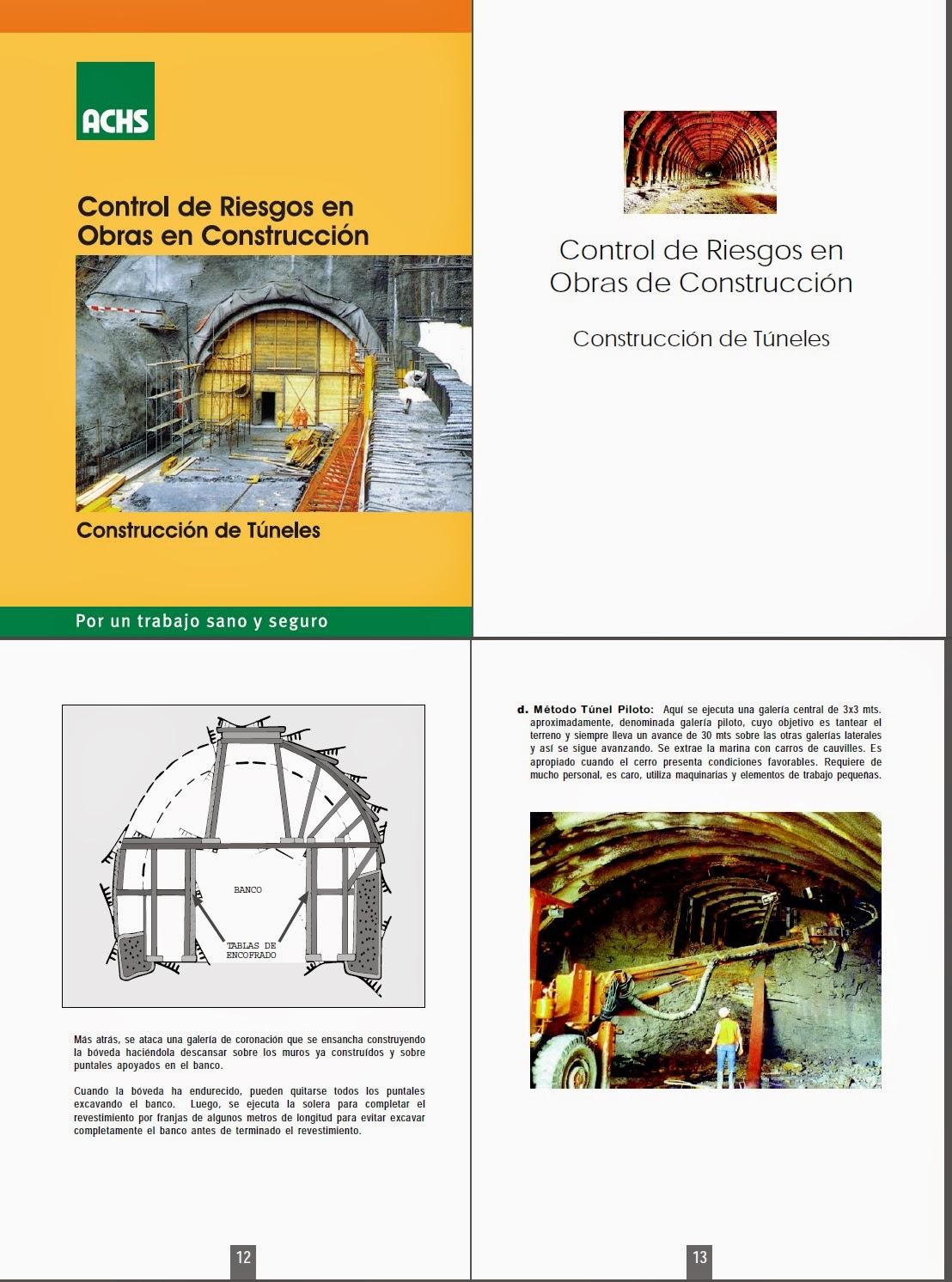 control de riesgos construccion de tuneles