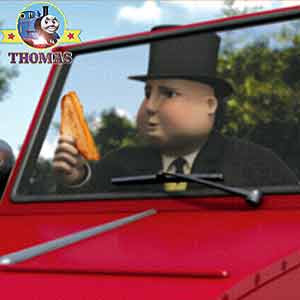 2012 Thomas and friends film Blue mountain mystery Winston red trolley car and the Fat Controller