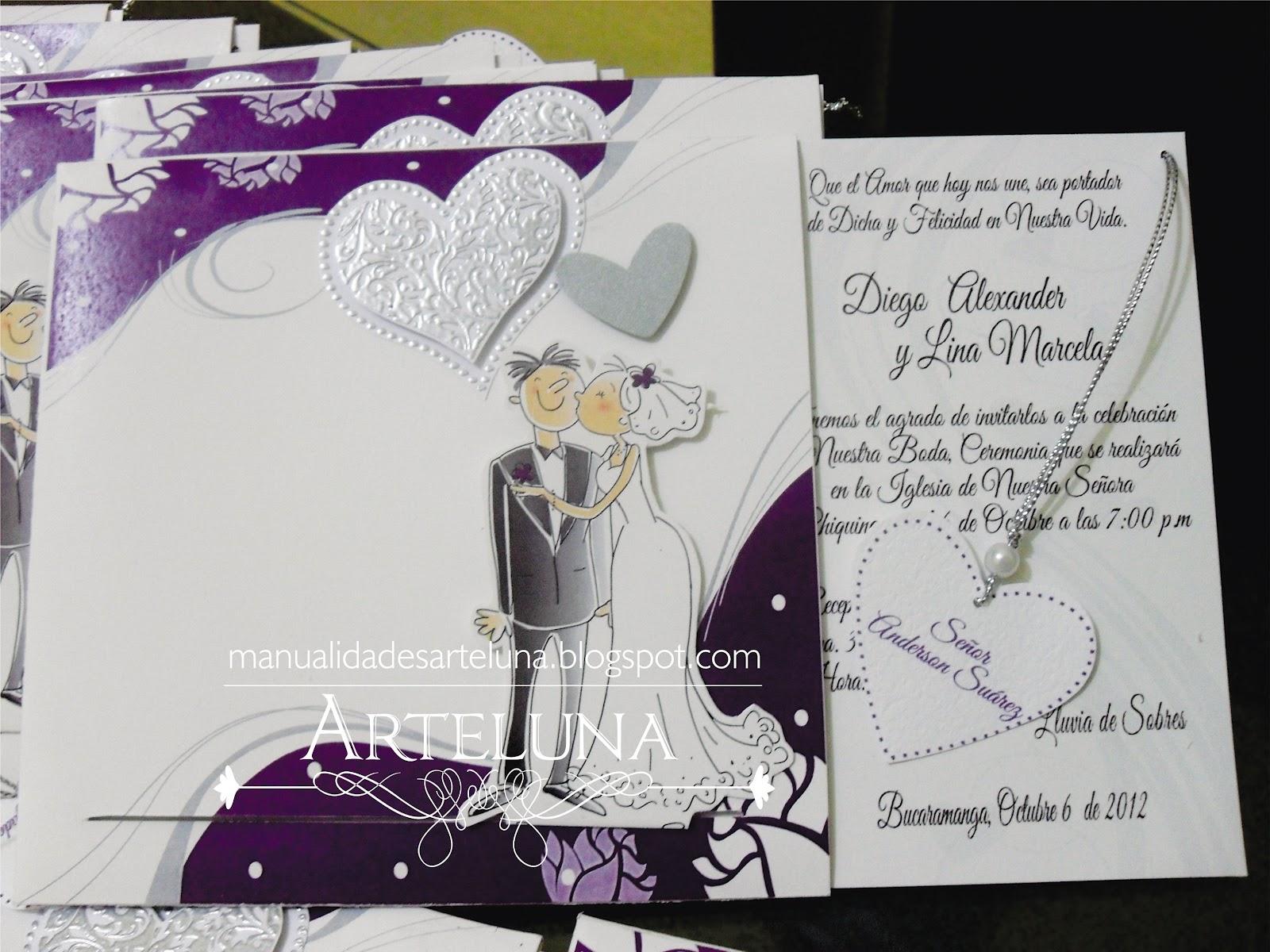 Tarjetas de saludos partes de matrimonio invitaciones - Tarjeta de boda ...