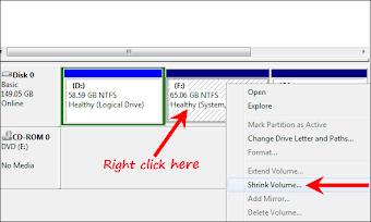 طريقة تقسيم القرص الصلب على ويندوز 7 بدون برامج