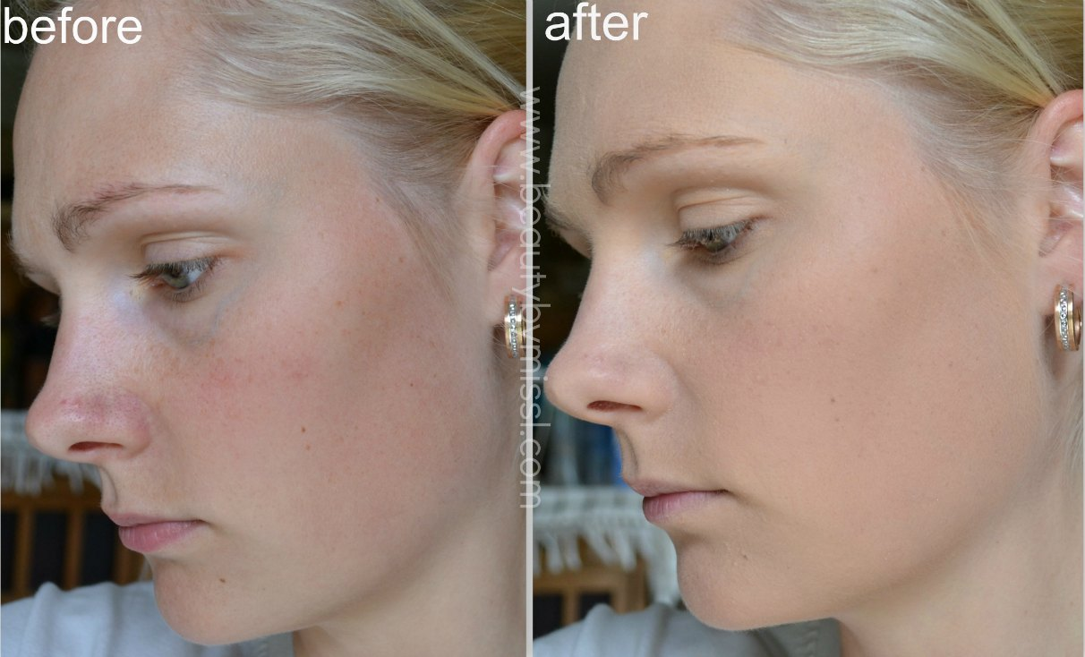 Maybelline Dream Matte Mousse in Nude 21 before & after