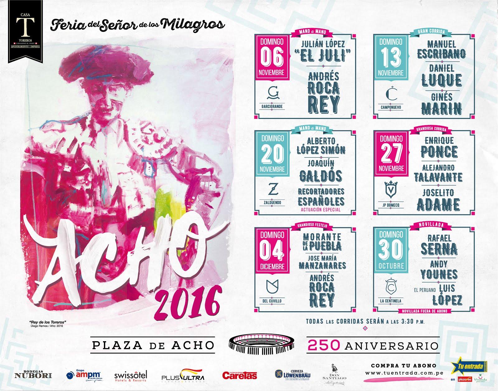 CARTELES DE ACHO 2016