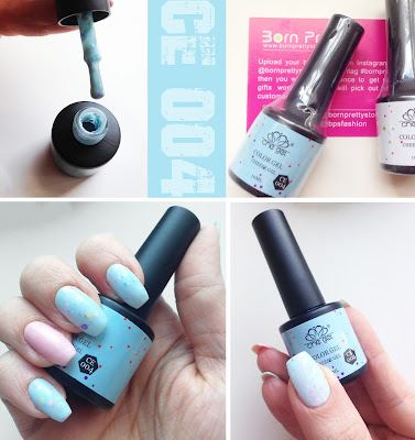 Born Pretty Store Cheese Gel blue CE 004 nails Review