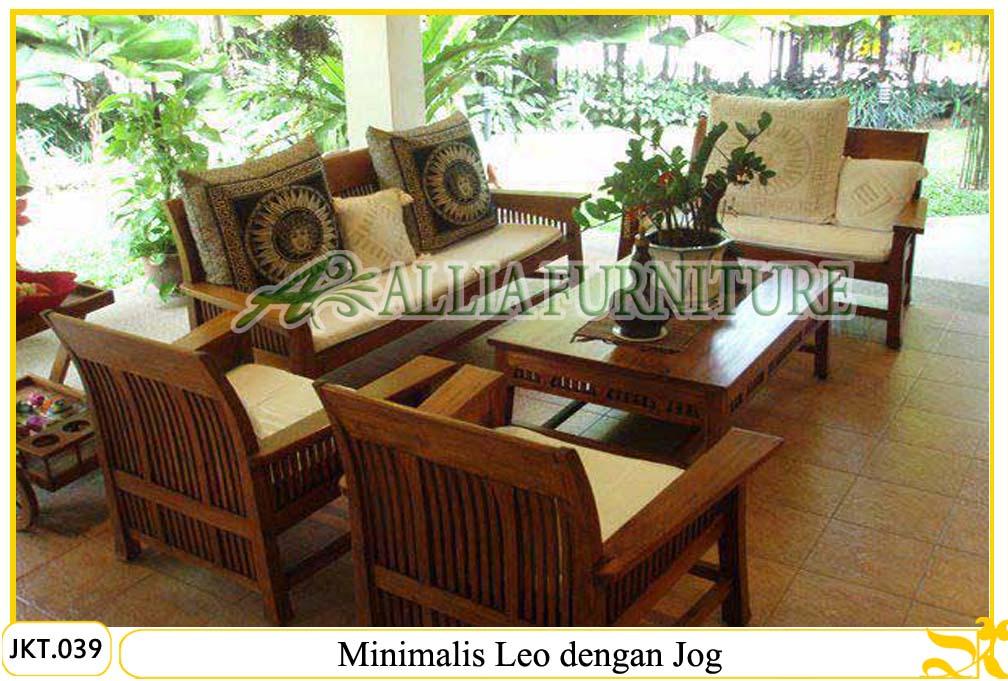 kursi tamu meja ukiran minimalis leo allia furniture