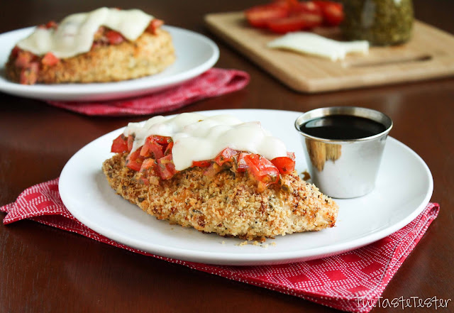 Baked Caprese Chicken | www.the-taste-tester.com #chicken #recipe