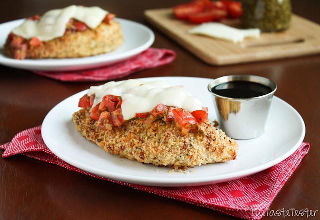 Baked Caprese Chicken | www.the-taste-tester.com #chicken #recipe