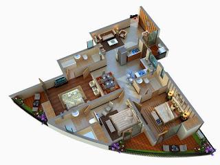 Albaria :: Floor Plans:-3 BHK Super Area - 1725 Sq Ft