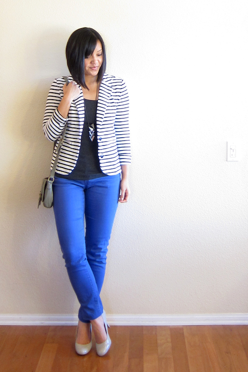 Putting Me Together Striped Blazer Ideas