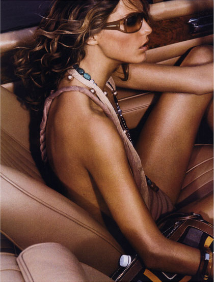 Canadian model,  Daria Werbowy