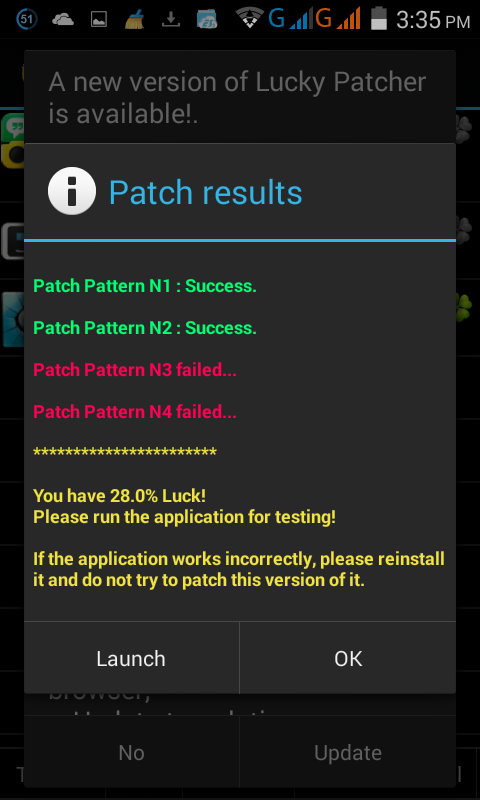 how to update applications when lucky patcher