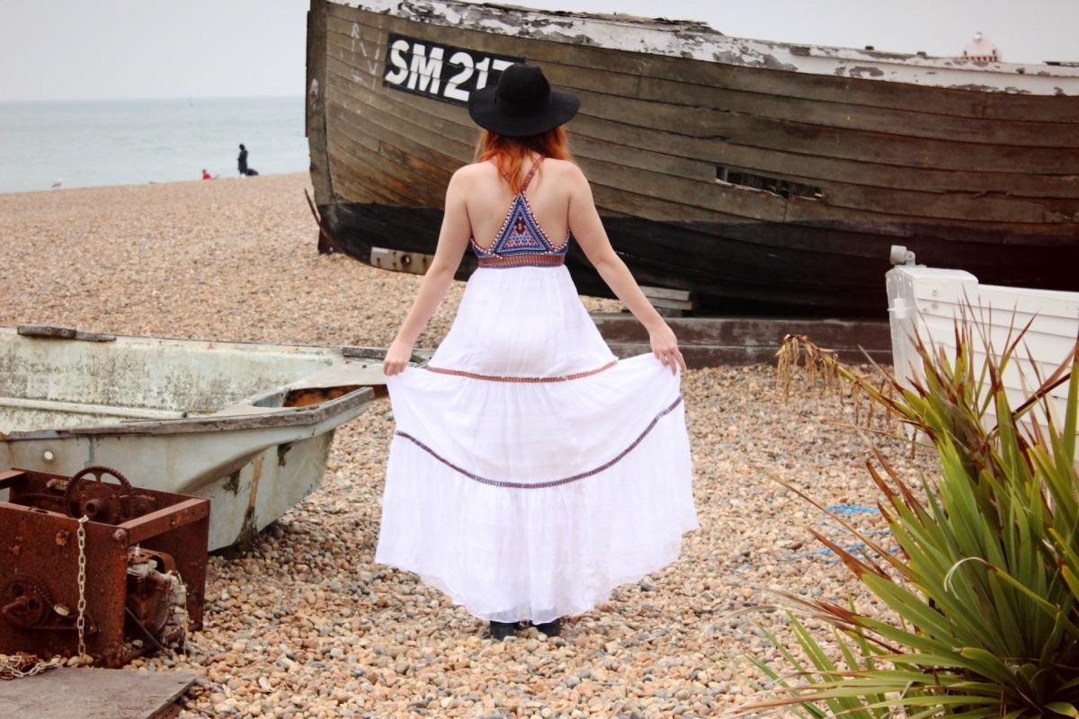 Free People Beaded Maxi Dress