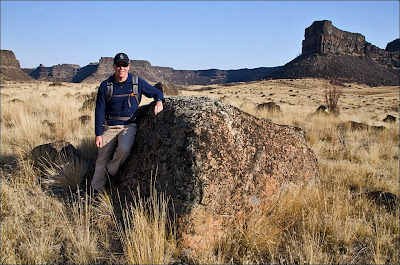 Monument Coulee erratic transported in Lake Missoula Floods.