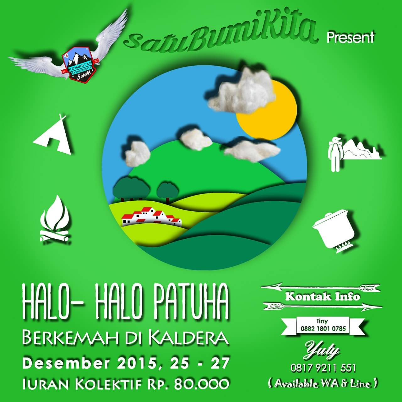 Halo-Halo Patuha, Berkemah Di Kaldera, 25-27 Desember 2015