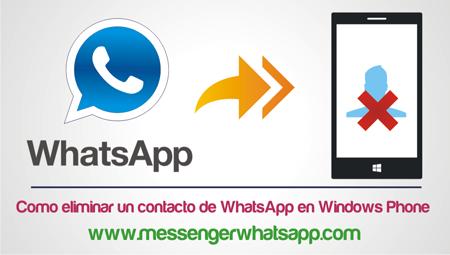 Como eliminar un contacto de WhatsApp en Windows Phone