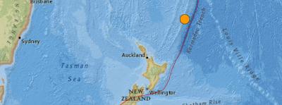Epicentro sismo 6,7 grados , islas Kermadec, Nueva Zelanda, 30 de Septiembre 2013