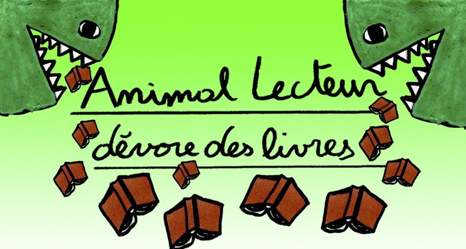 Animal Lecteur dévore des livres