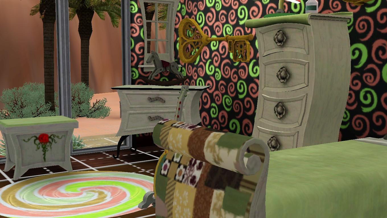 average sim set showcase through the spy glass bedroom