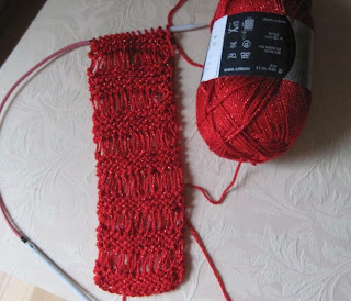 red lace scarf