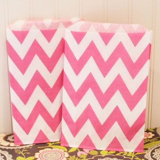Chevron Stripe Favor Bags